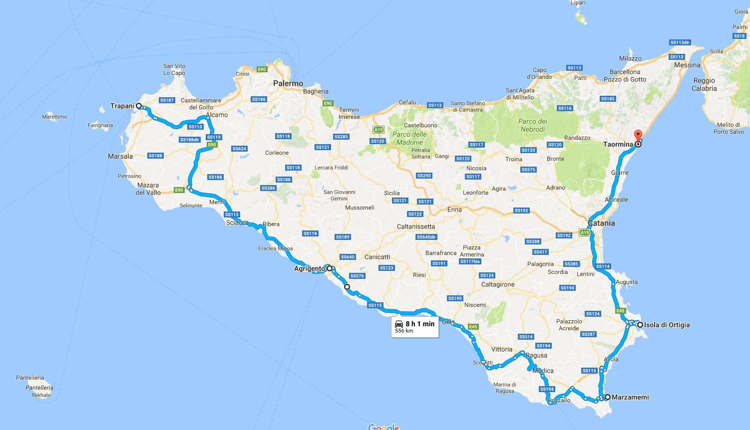 Cartina Sicilia Nord.Sicilia In 7 Giorni Cosa Vedere E Dove Andare Italia Nascosta It