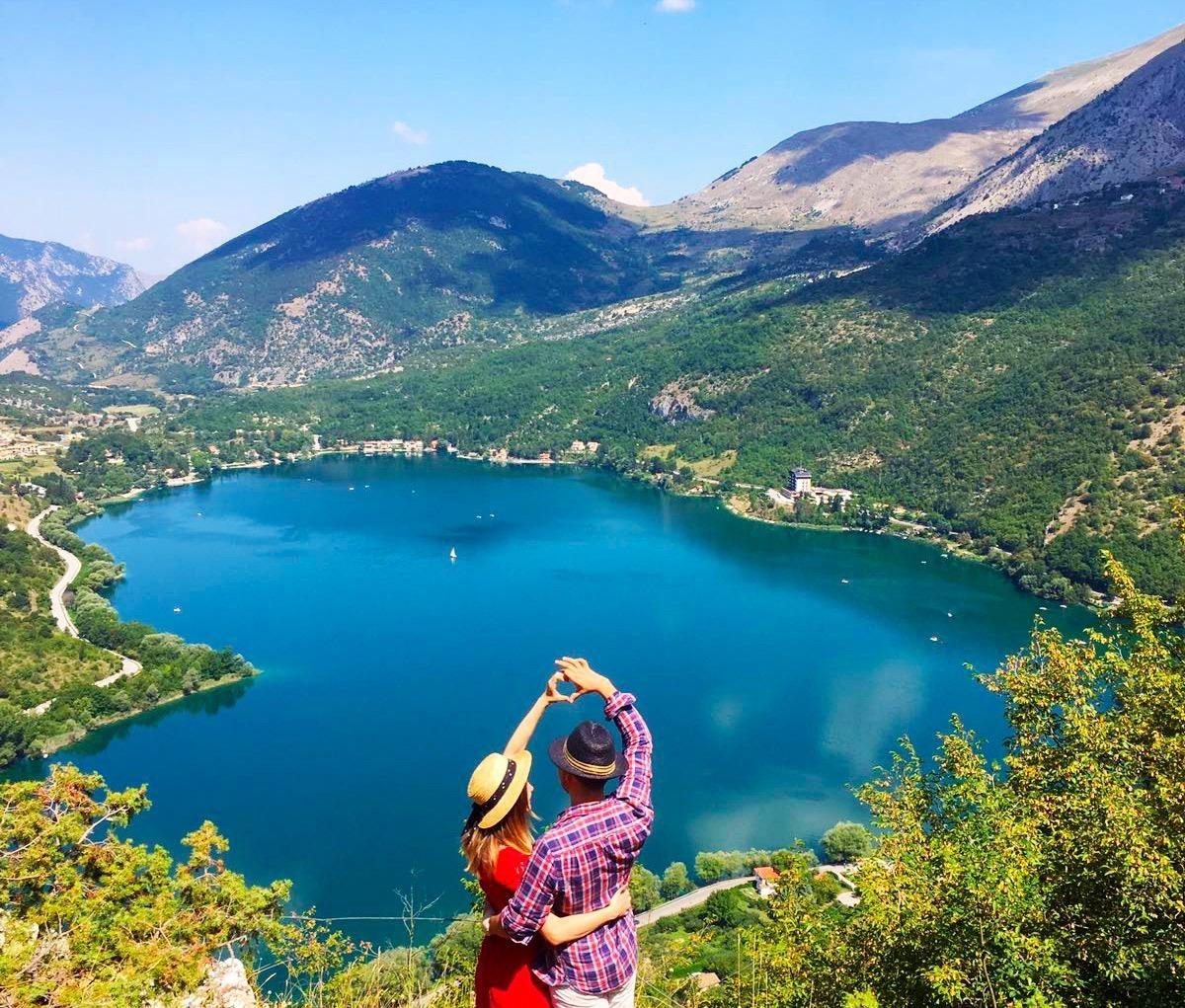 Scanno ; il lago a forma di cuore