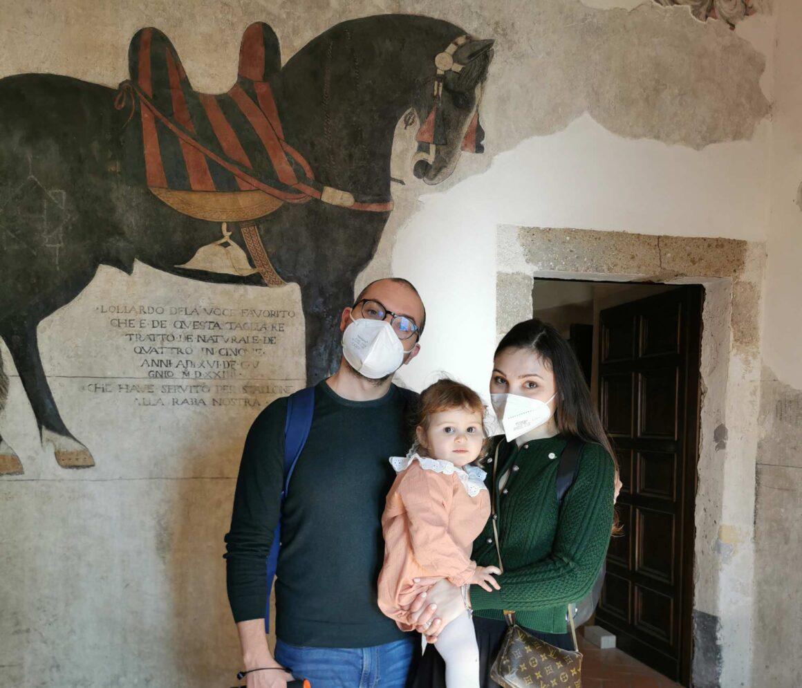 Noi all'interno del Castello Pandone